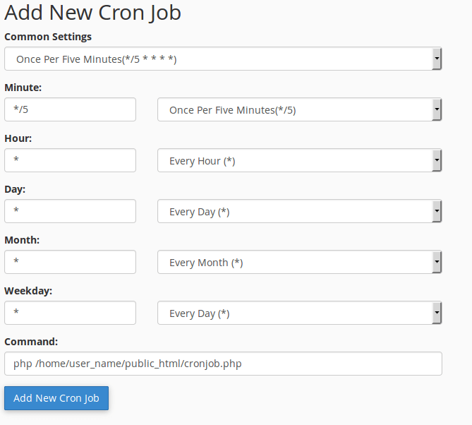 RE: How to create and run Cron job in PHP?
